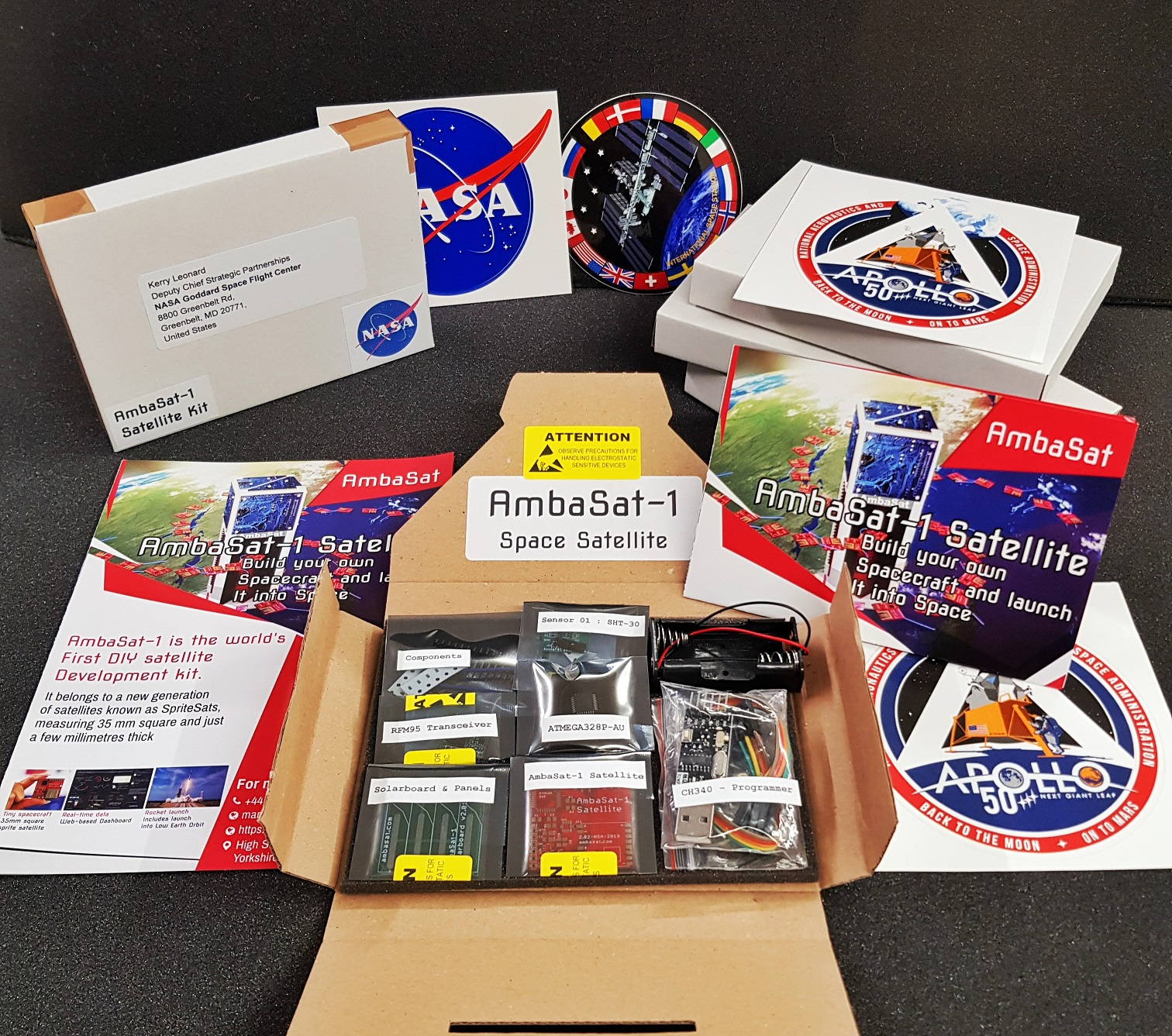 Backer Update – First AmbaSat-1 Satellite Kits Now Shipping!