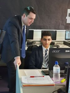 Tees Valley Mayor visits AmbaSat course, Egglescliffe School