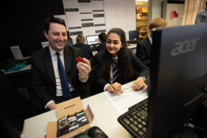 Tees Valley Mayor Ben Houchen Visits School Aiming to be First in UK to Launch Satellites