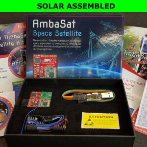 5. AmbaSat-1 Satellite – SOLAR ASSEMBLED