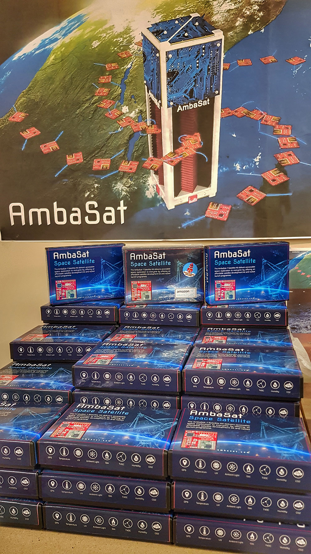 AmbaSat-1 Kits Ready to Ship