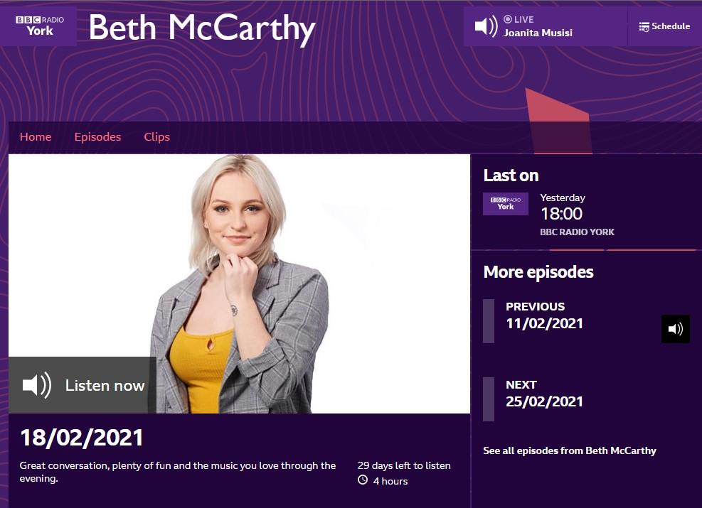 BBC Radio York AmbaSat interview