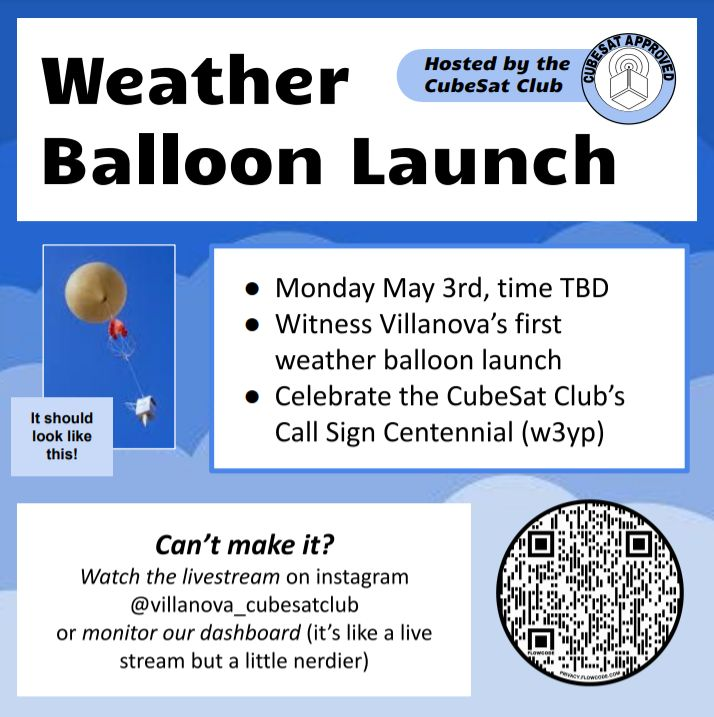 Villanova CubeSat Club Makes First AmbaSat High Altitude Balloon (HAB) Flight