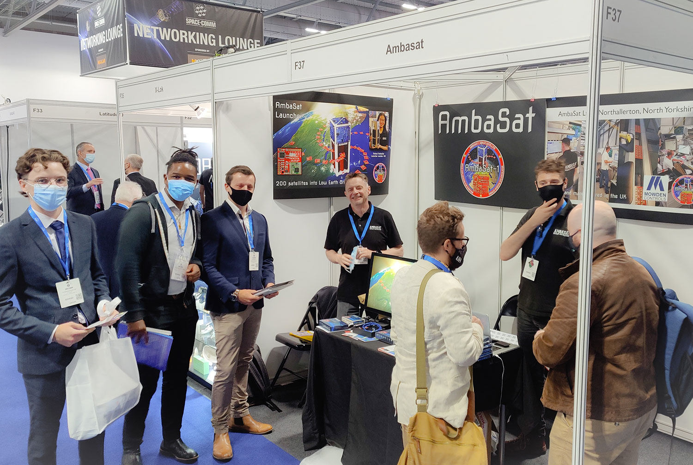 AmbaSat at Space-comm Farnborough, London. July 2021
